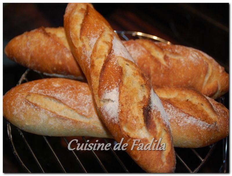 Baguettes maison cuisine de fadila for Baguette de pain maison