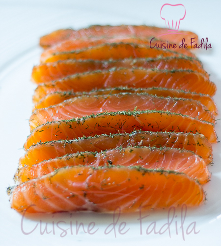 saumon gravlax recette en vid o cuisine de fadila. Black Bedroom Furniture Sets. Home Design Ideas