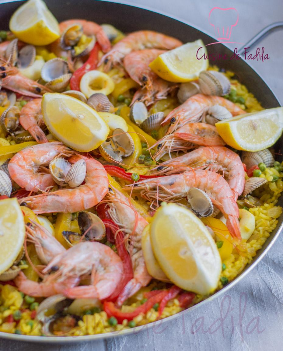 Paella cuisine de fadila - Recette de la paella espagnole ...