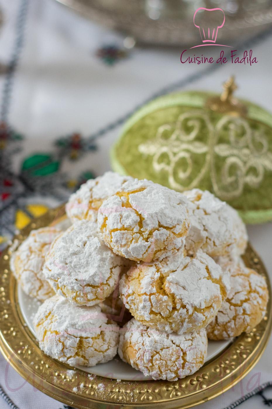 Gateau marocain a la semoule et noix de coco