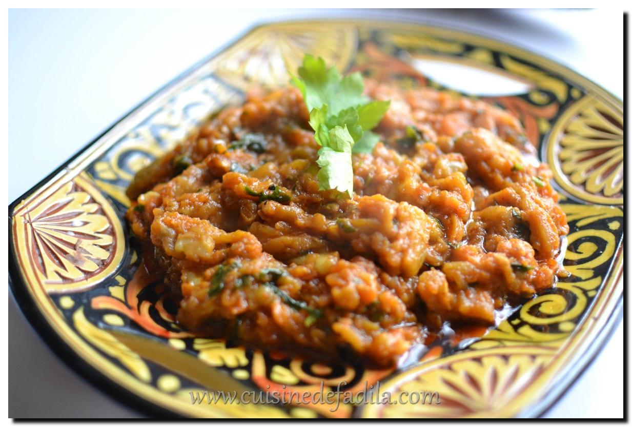 Zaalouk ou salade d 39 aubergine grill e marocaine recette - Youtube cuisine marocaine facile ...