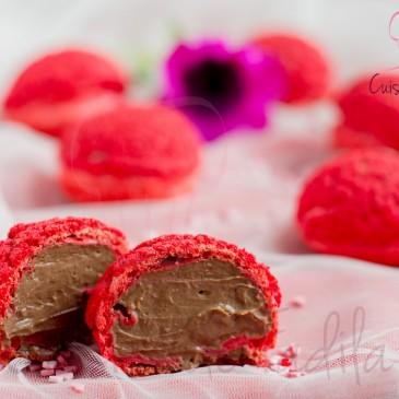 Choux red velvet au chocolat